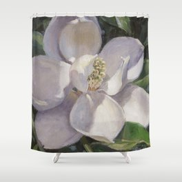 Magnolia Blossom Painting Shower Curtain