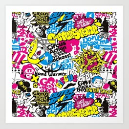 GRAFF--PATTERN Art Print