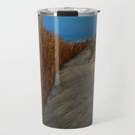 Beach Fence Landscape Travel Mug