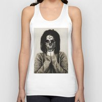 bjork Tank Tops featuring Bjork skull by Sincere