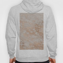 Rose Gold Copper Glitter Metal Foil Style Marble Hoody
