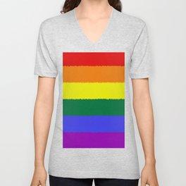 Pride Flag Unisex V-Neck