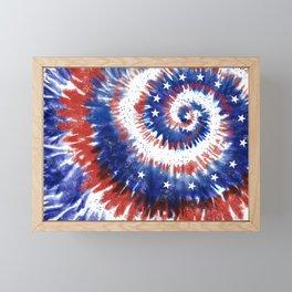 4th of July Tie-Dye Flag Framed Mini Art Print