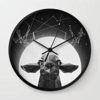 deer Wall Clocks featuring The Banyan Deer by Davies Babies