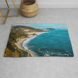 California Coastline Dreaming Rug