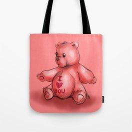 Pink Teddy Bear Tote Bag