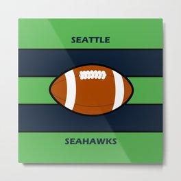 Seahawks Fans, Seattle Football Metal Print