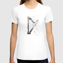 Harp, black and white T-shirt