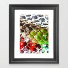 Snakeskin & Beads Framed Art Print