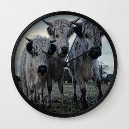 The Three Shaggy Cows Wall Clock