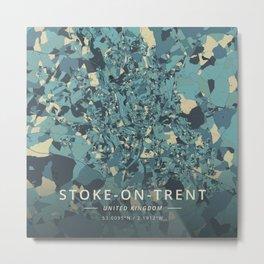 Stoke-on-Trent, United Kingdom - Cream Blue Metal Print