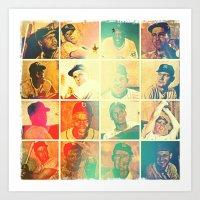 Bowman card collage Art Print