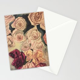 Dead Roses Stationery Cards