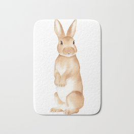 Rabbit Watercolor Bath Mat