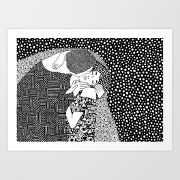 Gustav Klimt - The kiss Art Print
