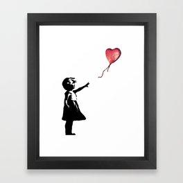 Banksy cosmic balloon Framed Art Print