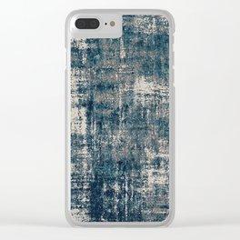 Blue Velvet Underground Clear iPhone Case