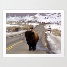 Montana Traffic Jam Art Print