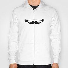 Minimal Funny Fitness Mustache / Beard Hoody