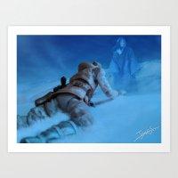 Art Print featuring Luke Skywalker- The Quest by jcalum2012