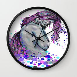 Poka Dots and Sad Thoughts Wall Clock