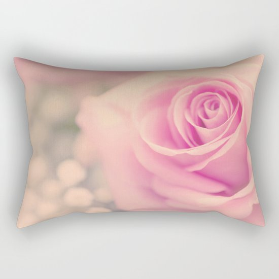 Vintage roses flowers floral - Pink rose flower bunch #Society6 Rectangular Pillow
