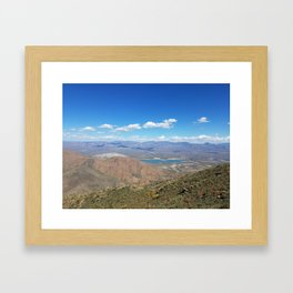 Overlooking Horseshoe Lake from Humboldt Framed Art Print