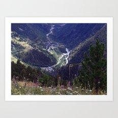 Valls d'Andorra 2 Art Print