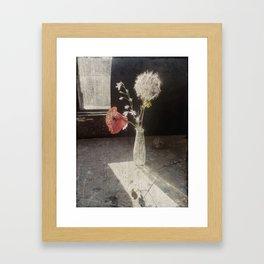 papavero kon soffione Framed Art Print