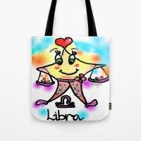 libra Tote Bags featuring libra by sladja