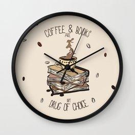Coffee And Books Wall Clock