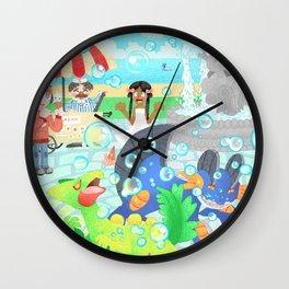 Seaside Play Wall Clock