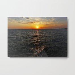 Sunset Huntington Beach Pier  7/3/13 Metal Print