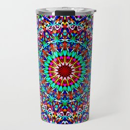 Colorful Life Garden Mandala Travel Mug