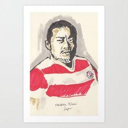 Rugby World Cup 2015 Portraits : Japan - Masataka Mikami Art Print