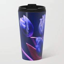 Blue Poetry of Tulips Travel Mug
