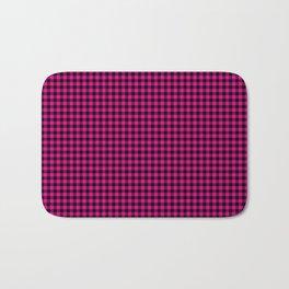 Mini Black and Hot Pink Cowgirl Buffalo Check Bath Mat