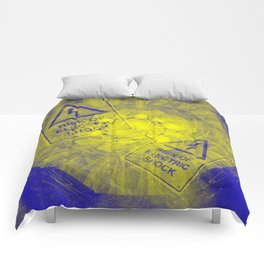 Abstract risk of electric shock Comforters