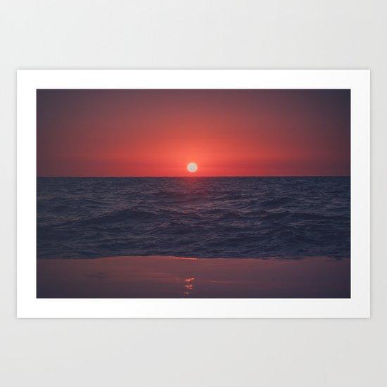 Restless Sunset Art Print
