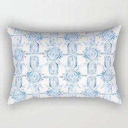 Emblem Blue Rectangular Pillow