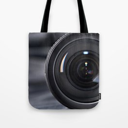 Photo lens front Tote Bag