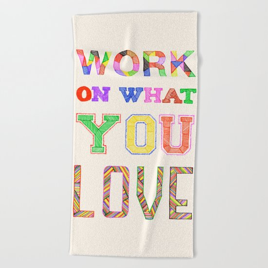 Life & Love Beach Towel