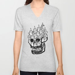 House of Oddities: 0 is equal Zero Unisex V-Neck