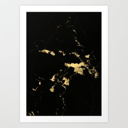 Black Marble #5 #decor #art #society6 Art Print