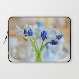 Blue and white spring lily Laptop Sleeve