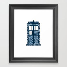 Tardis Blue Framed Art Print
