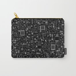 All Tech Line INVERTED / Highly detailed computer circuit board pattern Carry-All Pouch