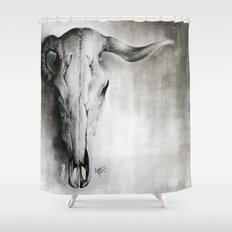 Ram Skull Shower Curtain
