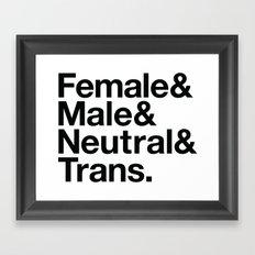 All Equal Genders Framed Art Print