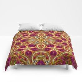 Frayed threads kaleidoscope Comforters